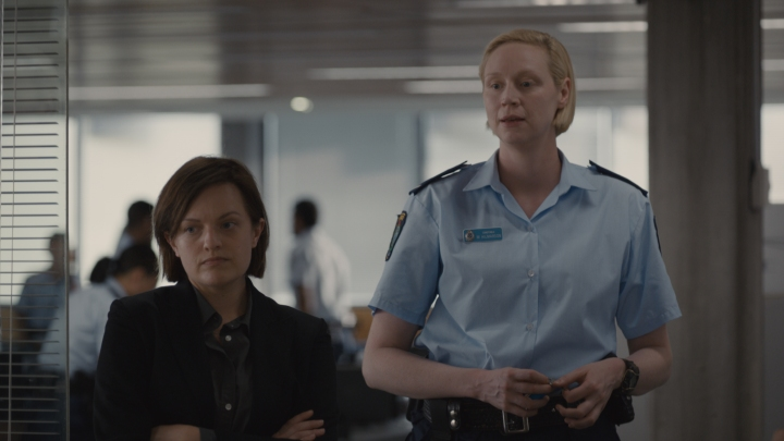 Elizabeth Moss and Gwendoline Christie in 'Top of the Lake; China Girl' - DOP Germain McMicking, PHOTO Supplied