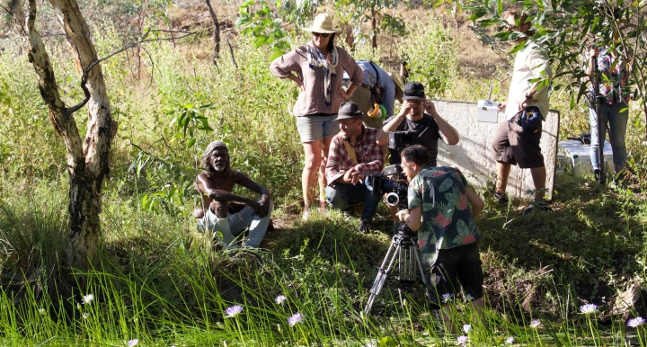 David Gulpilil AM films a scene in MESSiAH - PHOTO Supplied