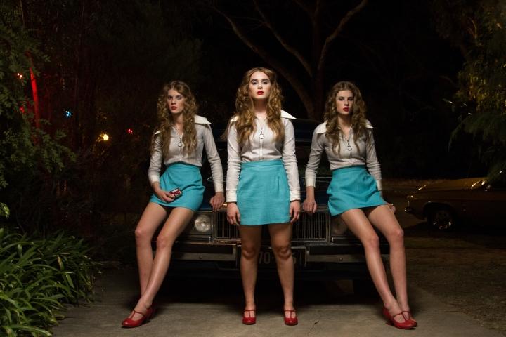 Fiona Dawson, Maiah Stewardson, Grace Dawson in 'Girl Asleep' - PHOTO Andrew Commis ACS