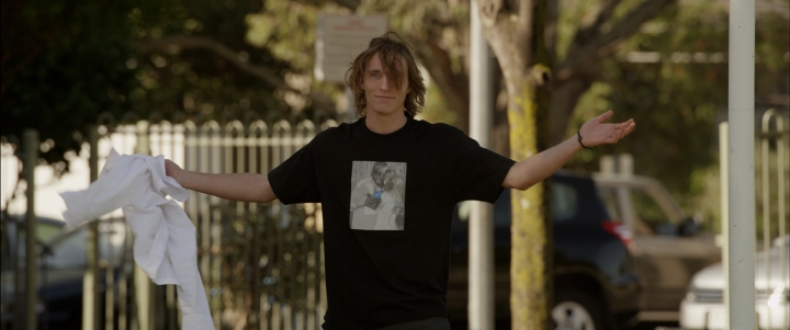 Mark (Sean Keenan) shrugs in a scene from 'Is This The Real World' - DOP Ellery Ryan ACS
