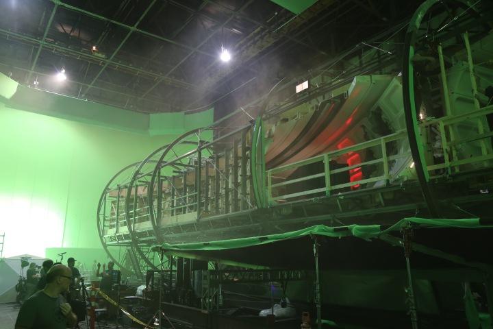 Roatating hallways on the set of 'Star Trek Beyind' - PHOTO Supplied