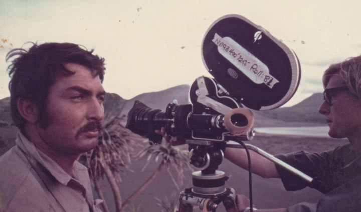Semler with a 16mm Arriflex on the island of Tanna with Camera Assistant Ted Rayment ACS - PHOTO Supplied