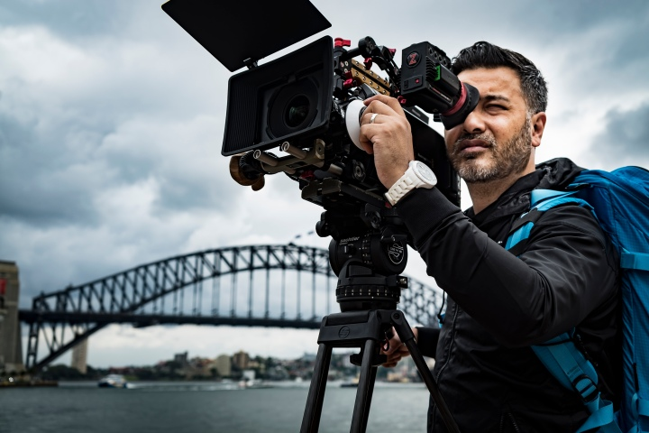 Clinton Harn filming in Sydney