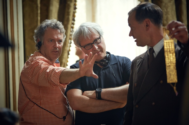 Ross Emery ACS on-set with Director Simon Curtis - PHOTO Robert Viglasky
